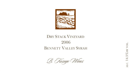 Dry Stack Vineyard Bennett Valley Syrah