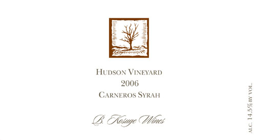 2006 Hudson Vineyard Carneros Syrah